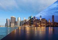 Free Montage Of Manhattan Skyline Night To Day - New York - USA Royalty Free Stock Images - 44739409