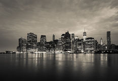 Free Montage Of Manhattan Skyline Night To Day - New York - USA Royalty Free Stock Photo - 44739445