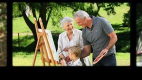 Montage Paaren von den im Ruhestand, die Spaß haben stock footage