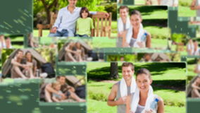Montage of people enjoying leisure time stock video footage