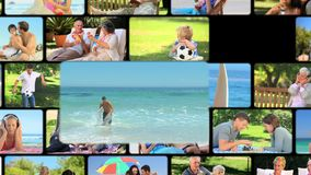 Montage of people outside stock video footage