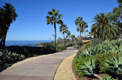 Montage Resort Park and public access walkway in South Laguna Beach, California. Stock Images