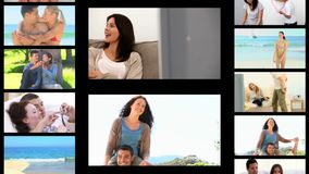 Montage of romantic moments Royalty Free Stock Photography
