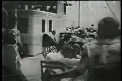 Montage - Staten Island Ferry terminal, lower Manhattan, 1930s stock footage