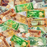 A Montage of Various Middle Eastern Curremcies Royalty Free Stock Image