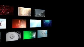 Montage of video clips stock video footage