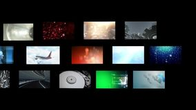 Montage of video clips stock video