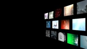 Montage of video clips stock footage