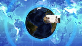 Montage of videos showing business people with Earth image courtesy of Nasa.org Royalty Free Stock Photo