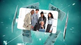 Montage von Call-Center-Arbeitskräften stock video footage