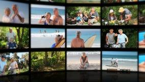 Montage von den älteren entspannenden Paaren stock video footage