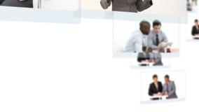 Montage von den arbeitenden und entspannenden Geschäftsleuten stock footage