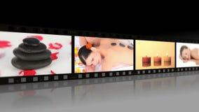 Montage von den entspannenden Frauen stock footage