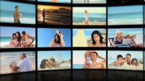 Montage von den entspannenden Leuten stock video