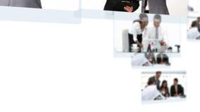 Montage von den Geschäftsleuten, die schwer arbeiten stock video