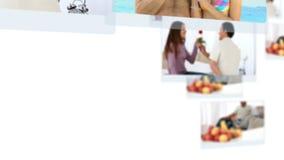 Montage von den glücklichen Paaren, die zusammen spezielle Zeit verbringen stock video footage