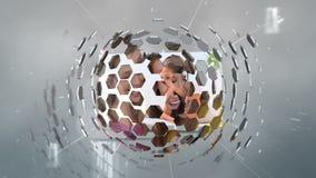 Montage von den jungen Leuten, die verschiedene Technologien einsetzen stock footage