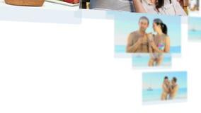 Montage von den jungen Paaren, die zusammen spezielle Zeit verbringen stock footage