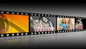 Montage von den Leuten, die Filme genießen stock video
