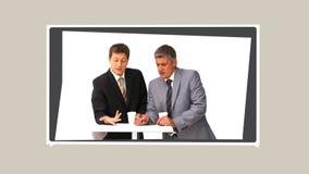 Montage von den Leuten, die Ideen austauschen stock video