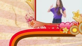 Montage von den Leuten, die Karaoke genießen stock video footage