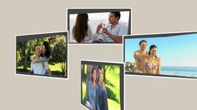 Montage von den Liebhabern, die zusammen Zeit verbringen stock footage