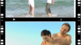 Montage von den Liebhabern, die zusammen Zeit verbringen stock video footage