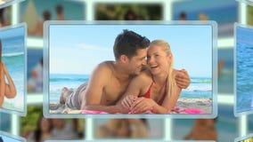 Montage von den Paaren, die zusammen verschiedene Arten von Momenten teilen und genießen stock footage