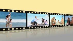Montage von den reizenden Familien, die Spaß haben stock video footage