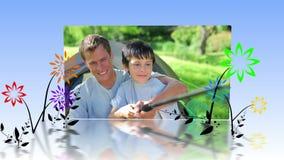 Montage von Familien im Park stock video footage