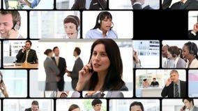 Montage von Geschäftsanrufen stock video footage
