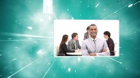 Montage von Geschäftskollegen bei der Arbeit stock video footage