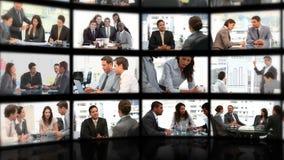Montage von Geschäftslagen stock footage