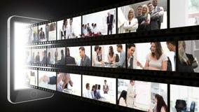 Montage von Geschäftsleuten in den verschiedenen Situationen stock video