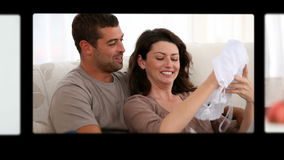 Montage von glücklichen Paaren stock video footage