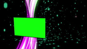 Montage von grünen Schirmen mit abstraktem Hintergrund lizenzfreie abbildung