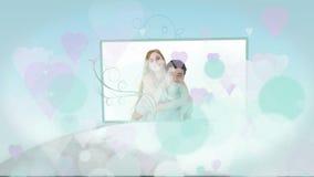 Montage von jungen Liebespaaren zu Hause stock footage