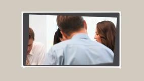 Montage von Leuten in den Sitzungen stock video