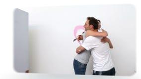 Montage von Paaren stock video footage