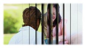 Montage von Paaren in den verschiedenen Plätzen stock video