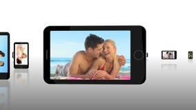 Montage von Paaren draußen stock footage