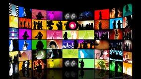 Montage von Teenager Tanzen lizenzfreie abbildung