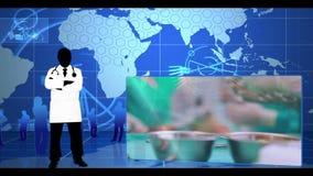Montage von verschiedenen chirurgischen Clipn stock video footage