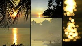 Montage von verschiedenen Clipn mit typischen Ansichten von Bali, Indonesien stock footage