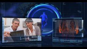 Montage von verschiedenen digitalen und aus dem wirklichem Leben medizinischen Clipn stock video