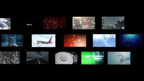 Montage von Videoclips stock abbildung