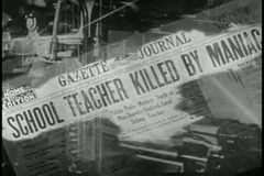 Montage von Zeitungsschlagzeilen stock video footage