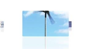 Montage, welche die grüne Energie veranschaulicht stock footage