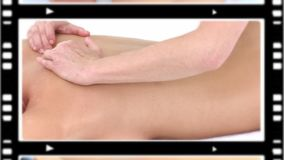 Montage of women relaxing while having a massage Royalty Free Stock Images