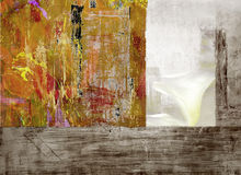 Montage on Wood Panel Royalty Free Stock Photos